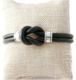 Armband Leer Knot