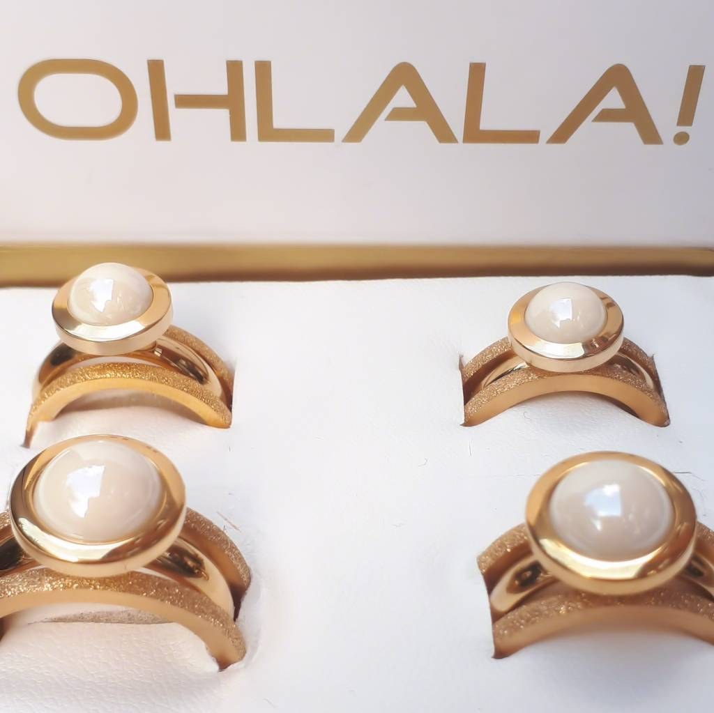 Ohlala Ringenset Golden Look - 10 mm Twist