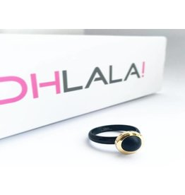 Ohlala Ringenset Twist Black-Gold Matt Black 8mm
