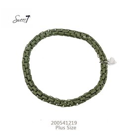 Sweet 7 Plus Size Armband Green