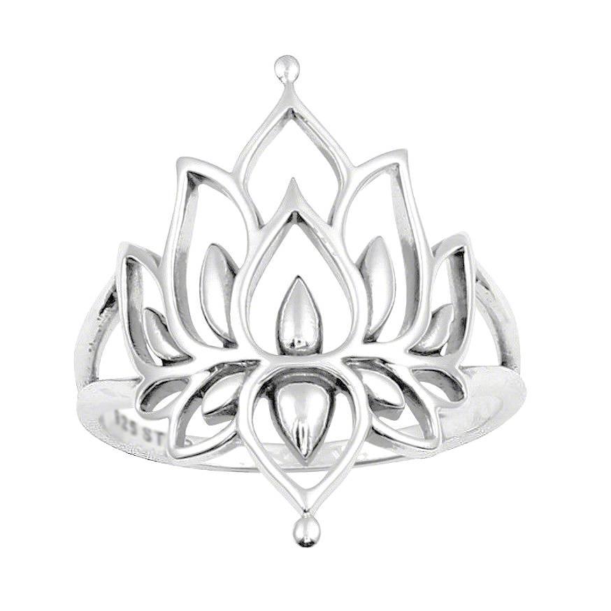 Lotus Ring - 925 Sterling Zilver