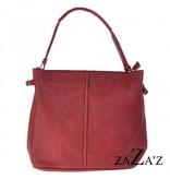 Zaza'z Hand,- Schoudertas Coral Red