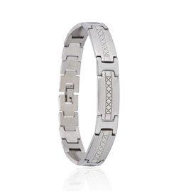 Edelstalen Armband - Cross - 21,5 cm