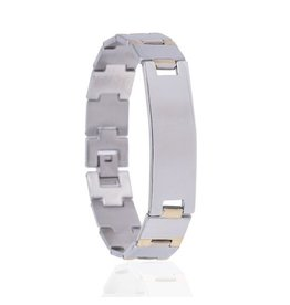 Armband - Silver Gold - Edelstaal -21 cm