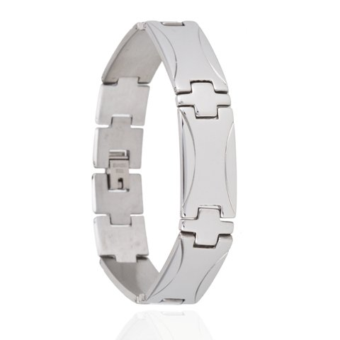 Armband - Wave - Edelstaal -20 cm