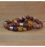 Sazou Jewels Armband Natural Stones Gele Jasper 8422