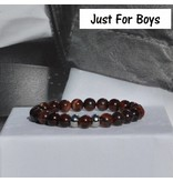 Sazou Jewels Armband Boys Natural Stones Tijgeroog