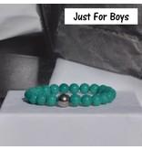 Sazou Jewels Armband Boys Natural Stones Green Jade