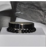 Sazou Jewels Armband Boys Leer Black