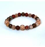 Sazou Jewels Armband Natural Stones Glamour 8431
