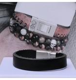 B & L Lederen armband Black BL 99848