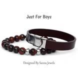Sazou Jewels Armband Boys Leer Brown