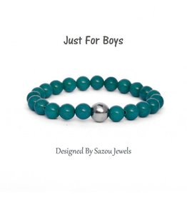 Sazou Jewels Armband Boys Natural Stones Green Jade