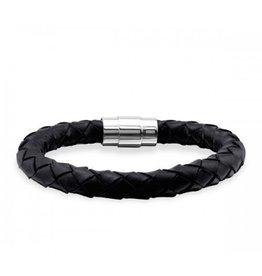 Sazou Jewels Armband Leer Black Cable