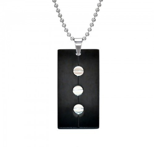 """Ketting """"Black Label""""  316L chirurgisch roestvrij staal"""