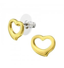 Oorstekers  Heart Stainless Steel Gold Plated