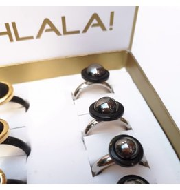 Ohlala Ringenset Twist Silver-Black 10m