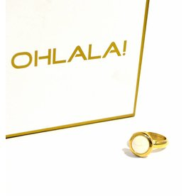 Ohlala Ringenset Twist Golden Look - 8 mm