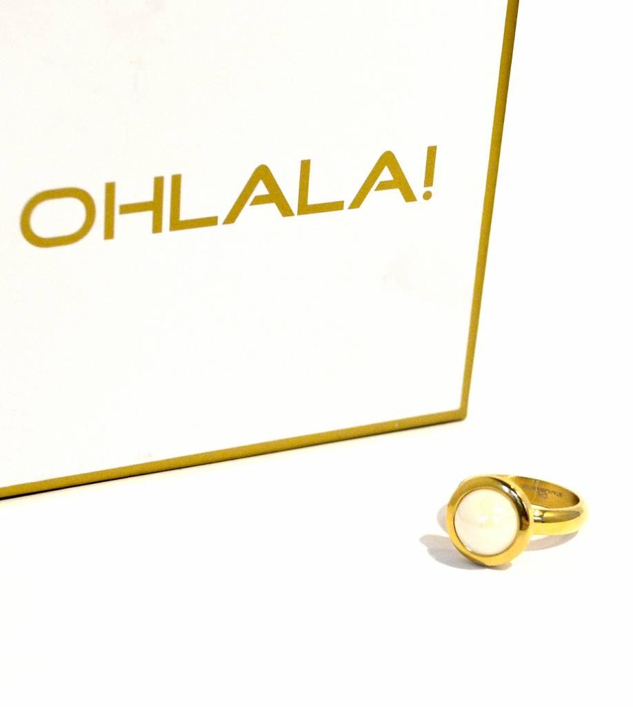 Ohlala Ringenset Twist Golden Look - 8 mm