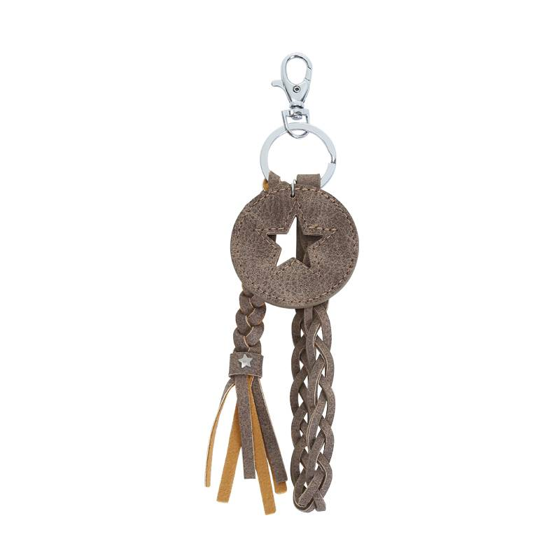 Key Chain Round Star Combination BROWN