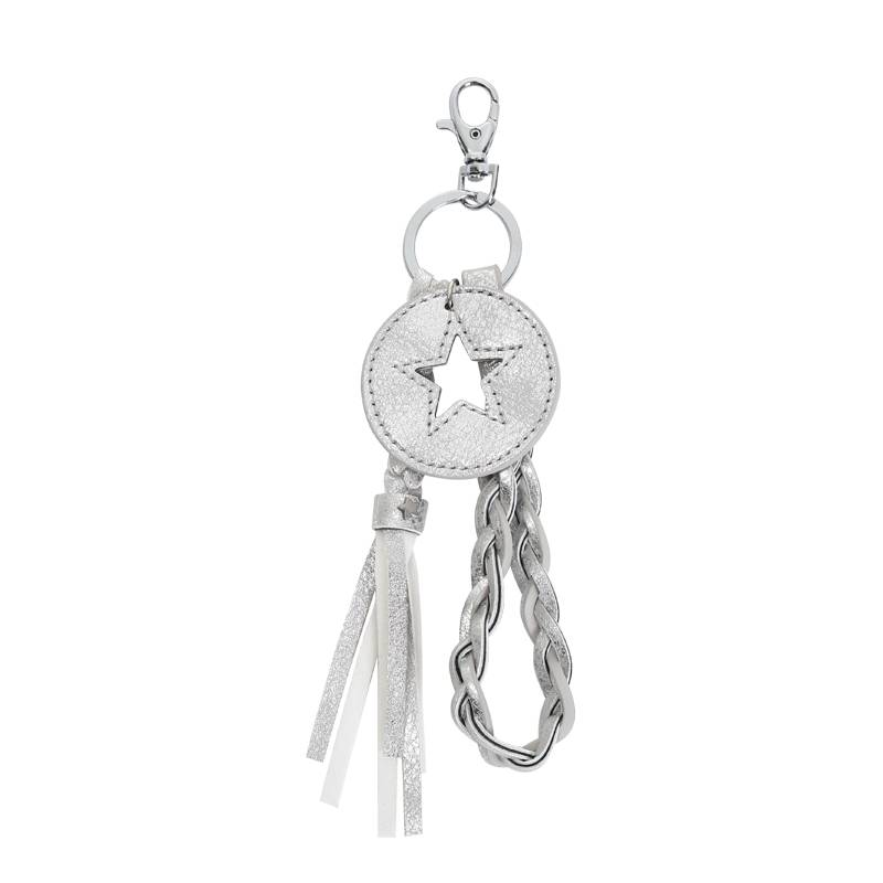 Key Chain Round Star Combination SILVER