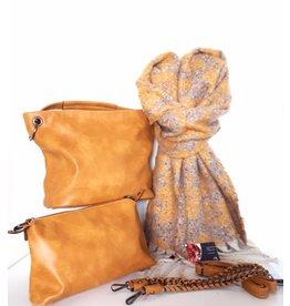 Tas en Sjaal Ines Delaure - Ocher Yellow