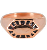 Charmin's RING FANCY SEAL ROSE GOLD STEEL R675