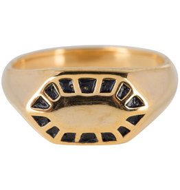 Charmin's RING FANCY SEAL GOLD STEEL R674