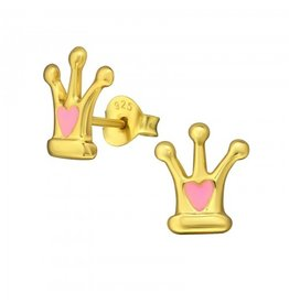PJ Oorstekers Crown 925 Sterling Zilver- Gold plated