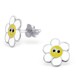 PJ Oorstekers White Flower - 925 Sterling Zilver
