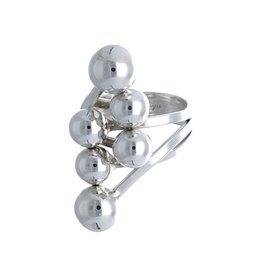 Zilveren ring met bolletjes Design - 925 Sterling Zilver