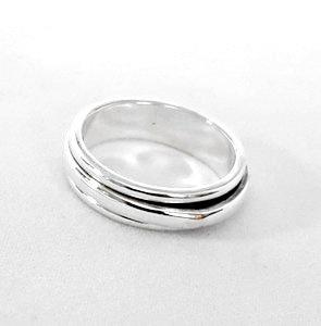 Zilveren smalle ring met binnenring - 925 Sterling Zilver