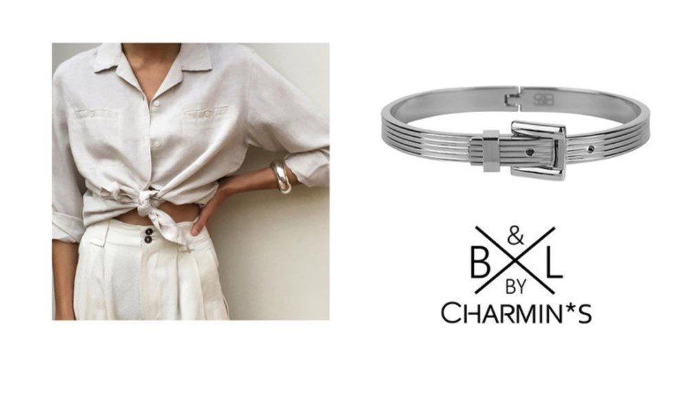 B & L By Charmin's  Armband Ceinture Steel