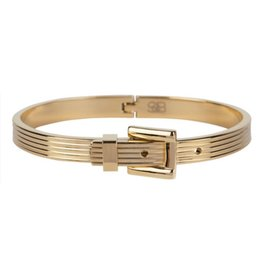 B & L By Charmin's  Armband Ceinture Steel - Gold Plated