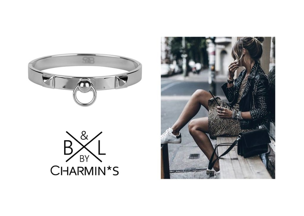 B & L By Charmin's  Armband Fierce Steel