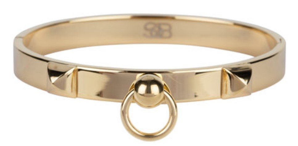 B & L By Charmin's  Armband Fierce Steel  Gold Plated