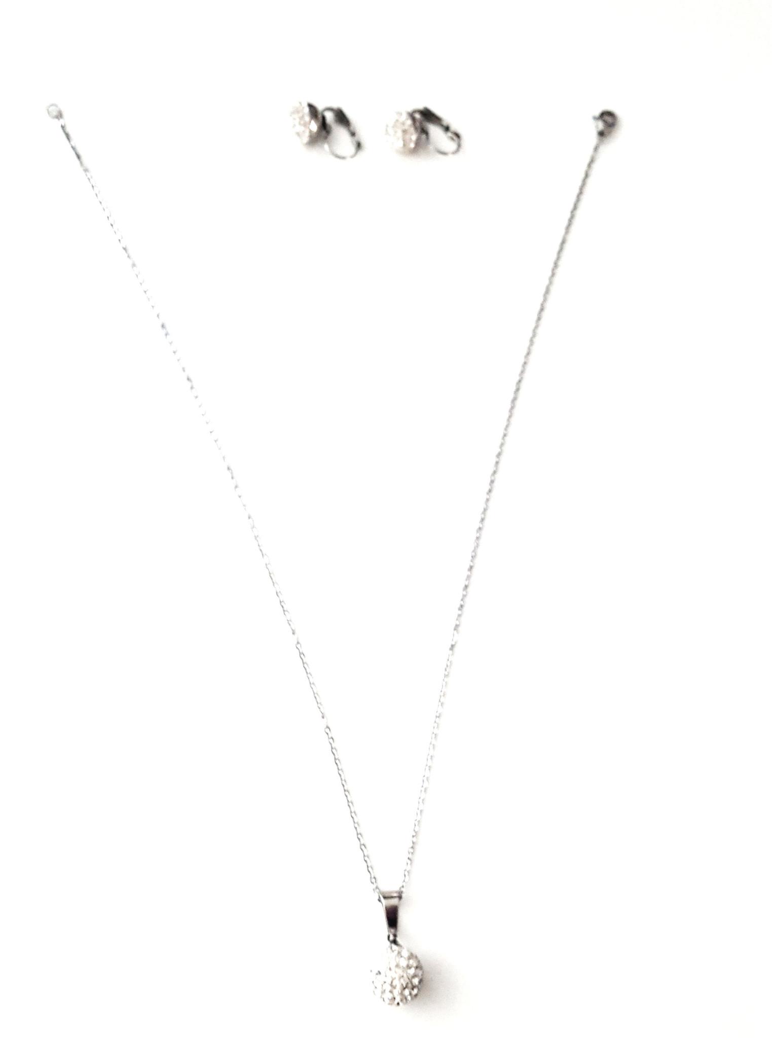 Sazou Jewels Ketting en Oorbellen Set Bol Stainless Steel