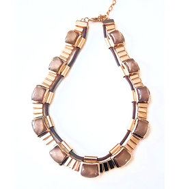 Choker ketting Brown Stones