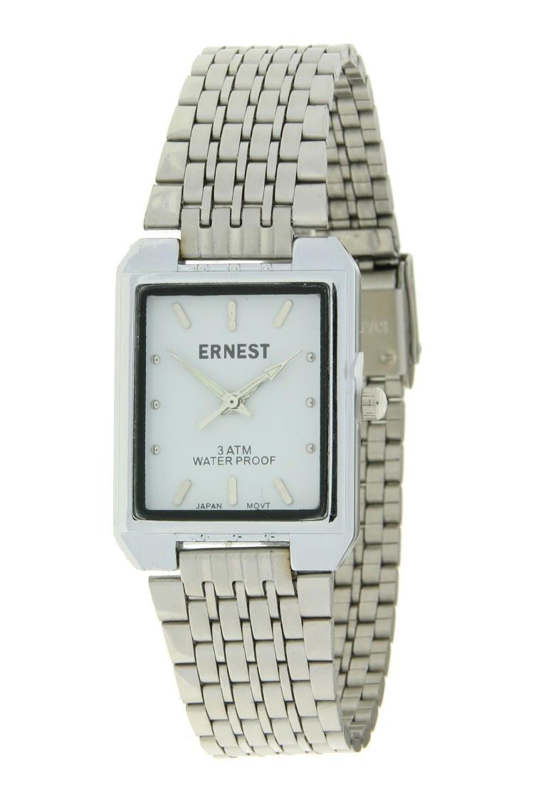Ernest Dames Horloge Clasica Zilver Wit