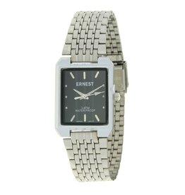 Ernest Horloge  Clasica  Zilver Zwart