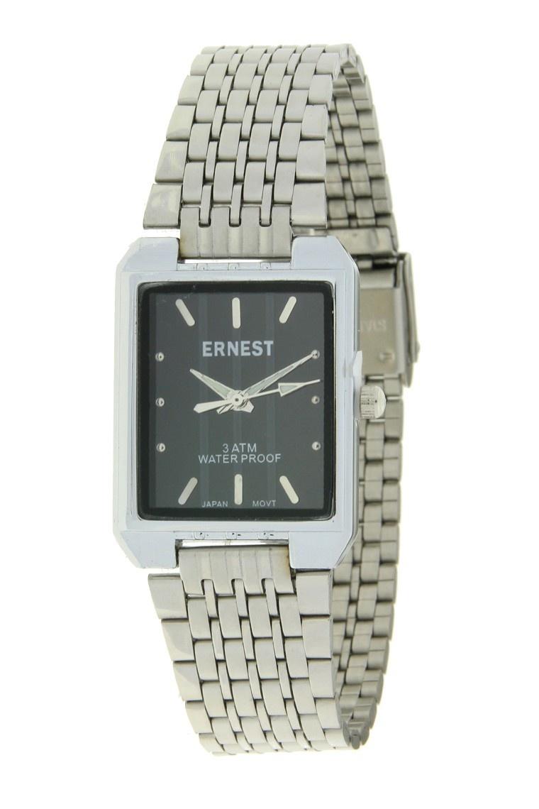 Ernest Dames Horloge Clasica Zilver Zwart