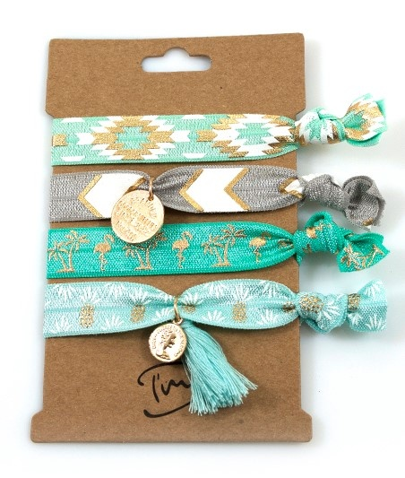 Haarelastiekjes / Armbandjes Turquoise