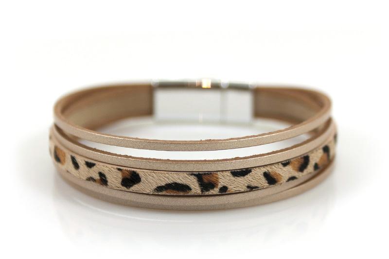 Armband Panter Naturel met magneetsluiting