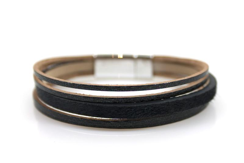 Armband Panter Black met magneetsluiting