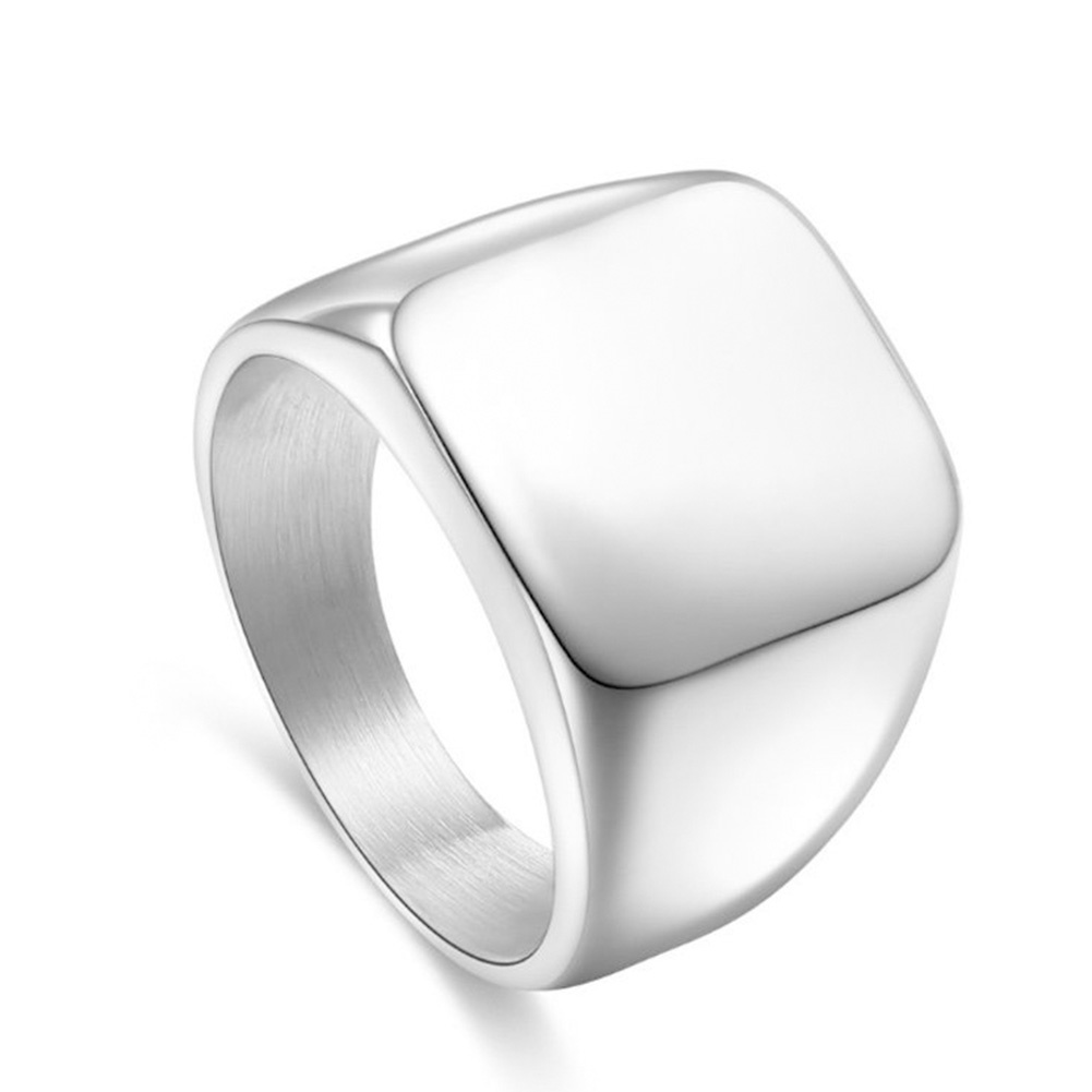 Zegelring Stainless Steel Shiny Zilver