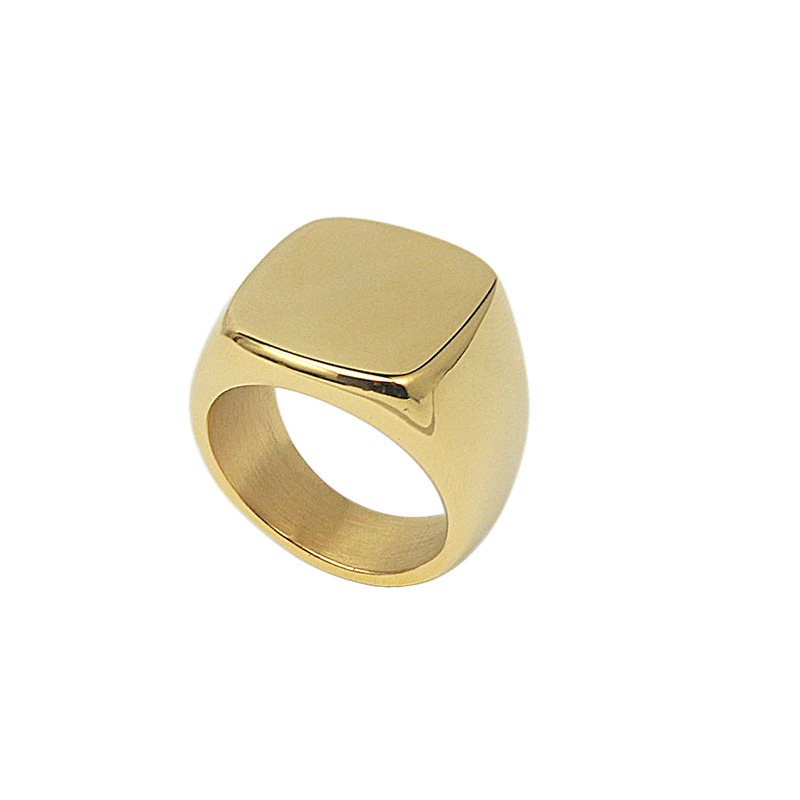 Zegelring Stainless Steel Gold Plated