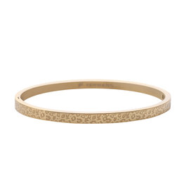 Armband - Bangle - Stainless Steel Leopard Gold Plated