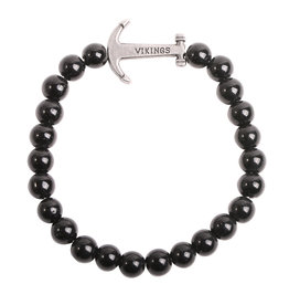 Natural Stones Armband Vikings - Black Onyx