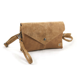 Heup,- Cross BodyBag, Clutch Camel