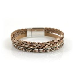 Armband Metallic Shine Gold met magneetsluiting - Copy